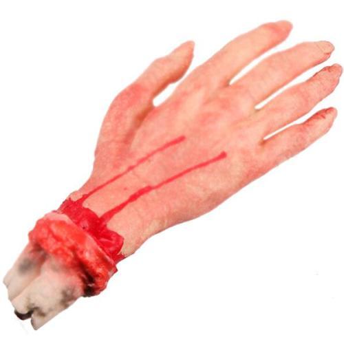 Horror Scary Latex Stump Blood Bloody Cut Hand Joke