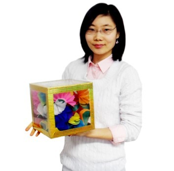 8 inch Crystal Clear Cube - Large