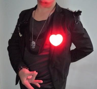 Heart-Shaped Light Set (Red/Blue)