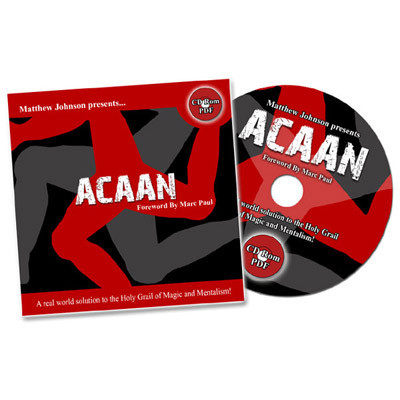 Any Card At Any Number (ACAAN) (CD Format) by Matthew Johnson - DVD