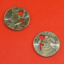 Punched Out Half Dollar