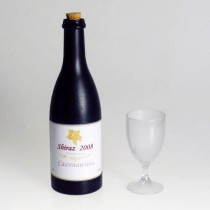 Floating Airborne Wine And Glass - Electric Version