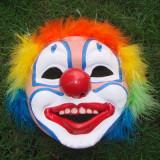 Multicolor Rubber Plumed Clown Mask