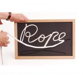 Rope Black Board - Plastic Bag Packaging