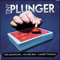 Tiny Plunger by Mathieu Bich, Jon Armstrong and Garrett Thomas (DVD + Gimmick)