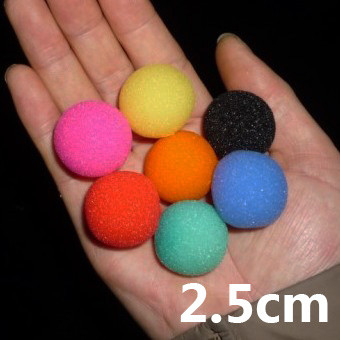 Super Soft Sponge Balls (2.5cm, Pack of 50)
