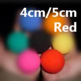 Super Soft Sponge Balls (4cm/5cm, Red, Pack of 50)