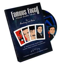 Famous Faced - Four Card Trick (Gimmicks & DVD) by Paul Romhany