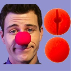 Clown Nose - Sponge BAG of 50 (Red)