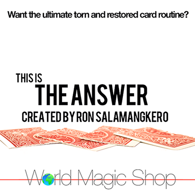 The Answer by Ron Salamangkero - DVD