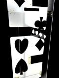 Folding Table - Card Desktop (Aluminium, Silver/Black)