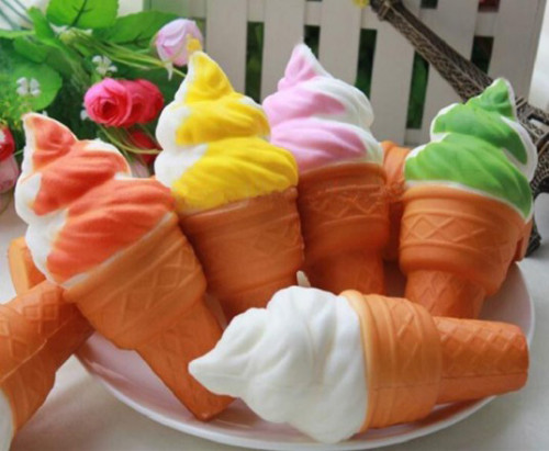 Sponge Ice Cream Cone - Multicolour (Pair Set)