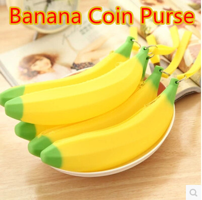 Rubber Coin Purse (Banana Shaped)