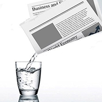 Liquid from Newspaper