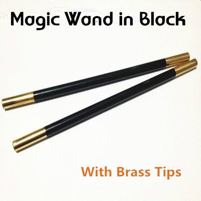 Magic Wand in Black (With Brass Tips)