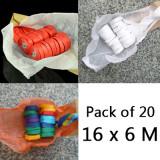 Throw Streamers - 3 Colors, Pack of 20 (16 x 6 Meters)