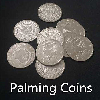 Palming Coins (Half Dollar Version, 20 Pieces)