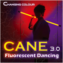 Color Changing Cane 3.0 Fluorescent Dancing (Professional two color) by Jeff Lee