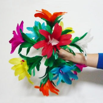 Appearing Feather Bouquet to Ball