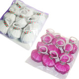 Throw Streamers - White/Multicolor (Cups, 9 Pieces/Pack)
