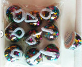 Hand Throw Streamer Cups - Mylar Multicolor (9 Pieces/Pack)