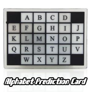 Alphabet Prediction Card