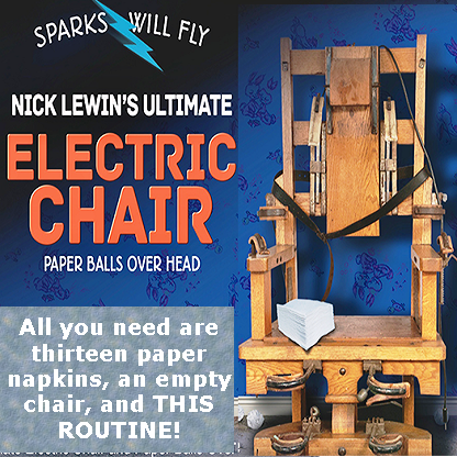 Nick Lewin Ultimate Electric Chair and Paper Balls Over Head - DVD
