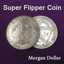 Super Flipper Coin (Morgan Dollar, Brass)