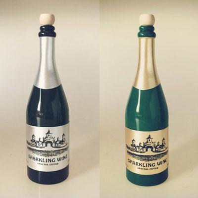 Vanishing Champagne Bottle - Black/Green
