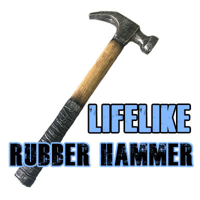 Lifelike Rubber Hammer