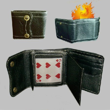 Magic Fire Wallet & Card to Wallet - 2in1 Trick for Pro