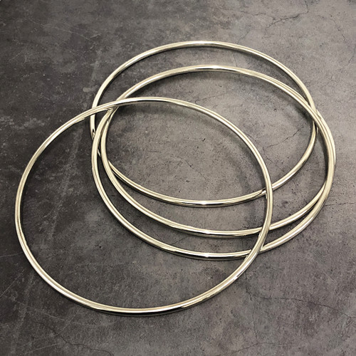 Deluxe 8.7 Inch Linking Rings (Set of 4, Chrome)