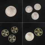 Double Face Super Triple Coin (Morgan Dollar/Half Dollar) by Johnny Wong