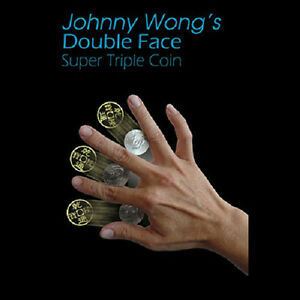 Double Face Super Triple Coin (Morgan Dollar/Half Dollar) by Johnny Wong