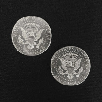 Double Sided Half Dollar (Tails)