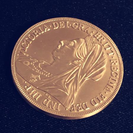 Queen Victoria Ancient Coin (Morgan Dollar Size)