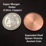 Expanded Shell Queen Victoria Ancient Coin (Tail, Copper)