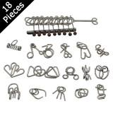 Cast Metal Puzzle Set (Pack of 18)