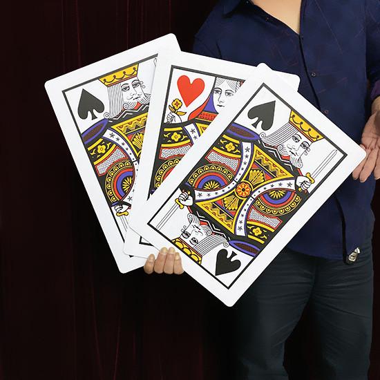 Super Automatic Three Card Monte - Giant, Plastic (45*30cm)