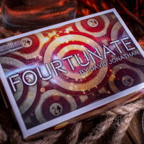 Fourtunate (Gimmicks and Online Instructions) by David Jonathan and Mark Mason - Blue