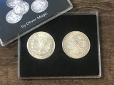 Morgan Dollar Shell and Coin Set (4 Coins 1 Shell) by Oliver Magic