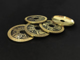 Super Chinese Coin Set (Qianlong, Morgan Size) by Oliver Magic