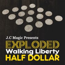 Exploded Walking Liberty Half Dollar by J.C Magic