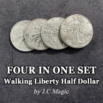 Four in One Walking Liberty Half Dollar Set by J.C Magic