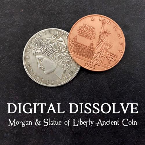 Digital Dissolve (Morgan & Statue of Liberty Ancient Coin)