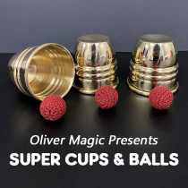 Super Cups and Balls (Brass) by Oliver Magic