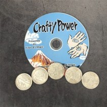 Crafty Power (DVD and Magnetic Walking Liberty Half Dollar Coins Set) by Kreis Magic