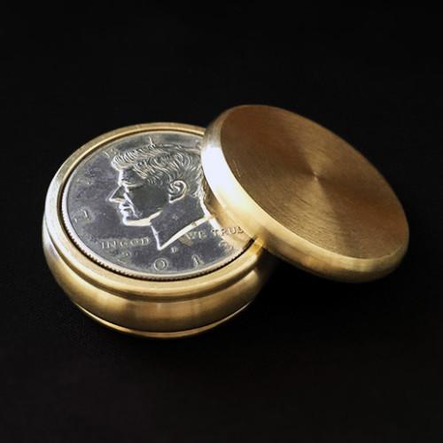 Buddha Slot Box - Half Dollar Size (Brass)
