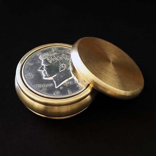 Buddha Okito Box - Half Dollar Size (Brass)