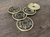 Chinese Palace Coin Set (4 Coins 1 Shell) by Oliver Magic